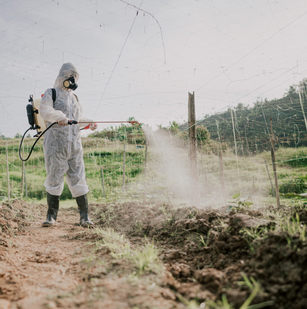 Toxic Spray in Agriculture